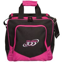 Columbia White Dot Single Tote Pink Bowling Bags