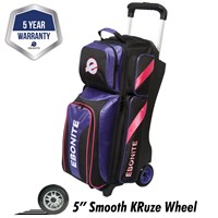 Ebonite Equinox Triple Roller Purple/Pink Bowling Bags