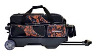 900Global Deluxe 3 Ball Roller Orange Camo Bowling Bags