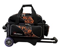 900Global Deluxe 2 Ball Roller Orange Camo Bowling Bags