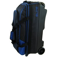 Elite Basic Triple Roller Blue Bowling Bags