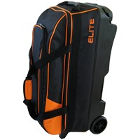 Elite Basic Triple Roller Orange Bowling Bags