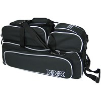 Tenth Frame Glide Triple Tote/Roller Plus Black Bowling Bags