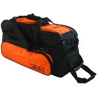 Tenth Frame Triple Tote/Roller Plus Black/Orange Bowling Bags