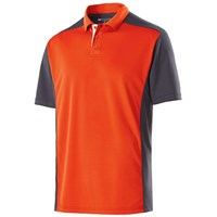 Holloway Mens Division Polo Orange/Carbon