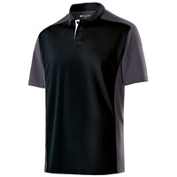 Holloway Mens Division Polo Black/Carbon