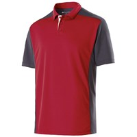 Holloway Mens Division Polo Scarlet/Carbon