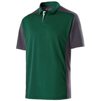 Holloway Mens Division Polo Forest/Carbon