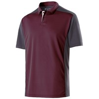 Holloway Mens Division Polo Maroon/Carbon