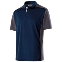 Holloway Mens Division Polo Navy/Carbon