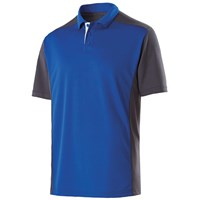 Holloway Mens Division Polo Royal/Carbon