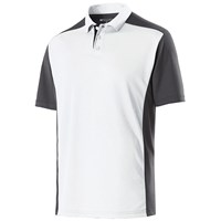Holloway Mens Division Polo White/Carbon