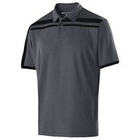Holloway Mens Charge Polo Carbon/Black