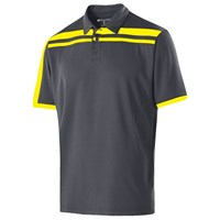 Holloway Mens Charge Polo Carbon/Yellow