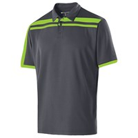 Holloway Mens Charge Polo Carbon/Lime