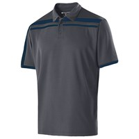 Holloway Mens Charge Polo Carbon/Navy