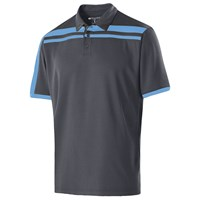Holloway Mens Charge Polo Carbon/University Blue