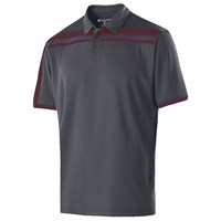 Holloway Mens Charge Polo Carbon/Maroon