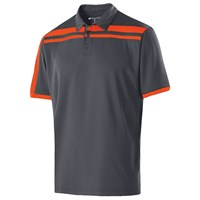 Holloway Mens Charge Polo Carbon/Orange