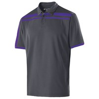 Holloway Mens Charge Polo Carbon/Purple