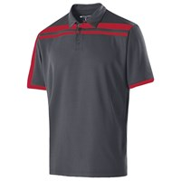 Holloway Mens Charge Polo Carbon/Scarlet