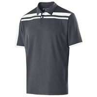 Holloway Mens Charge Polo Carbon/White