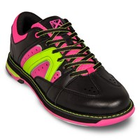 KR Strikeforce Womens Quest Black/Pink/Yellow Bowling Shoes