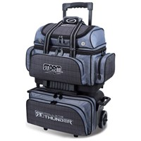 Storm Rolling Thunder 4 Ball Roller Charcoal Plaid/Grey/Black Bowling Bags