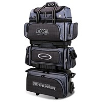 Storm Rolling Thunder 6 Ball Roller Charcoal Plaid/Grey/Black Bowling Bags