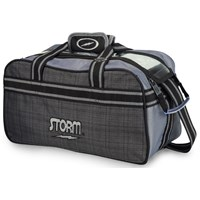 Storm 2 Ball Tote Charcoal Plaid/Grey/Black Bowling Bags