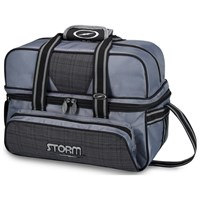 Storm 2 Ball Deluxe Tote Charcoal Plaid/Grey/Black Bowling Bags