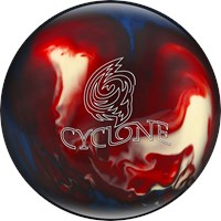 Ebonite Cyclone Red/White/Blue Bowling Balls