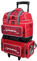 Storm Streamline 4 Ball Roller Red Crackle Bowling Bags