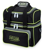 Storm 1 Ball Flip Tote Black/Grey/Lime Bowling Bags