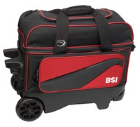 BSI Large Wheel Double Ball Roller Red/Black Bowling Bags