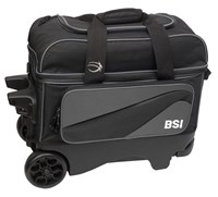 BSI Large Wheel Double Ball Roller Grey/Black Bowling Bags