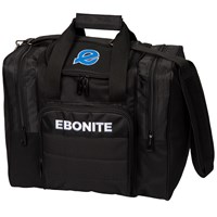 Ebonite Impact Plus Single Tote Black Bowling Bags