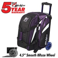 KR Cruiser Double Roller Purple/White/Black Bowling Bags