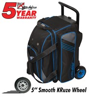 KR Lane Rover 2 (LR2) Double Roller Black/Grey/Royal Bowling Bags
