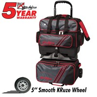 KR Lane Rover (LR4) 4-Ball Roller Grey/Black/Red Bowling Bags