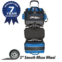 KR Strikeforce Royal Flush 6-Ball Roller Black/Royal Bowling Bags