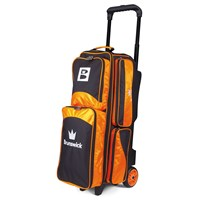 Brunswick Edge Triple Roller Orange Bowling Bags