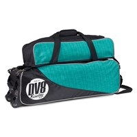 DV8 Circuit Triple Tote With Pouch Teal Bowling Bags