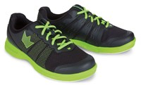Brunswick Mens Fuze Black/Neon Green Bowling Shoes