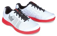 Brunswick Mens Fuze White/Red Bowling Shoes