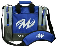 Motiv Shock Single Tote Blue Bowling Bags