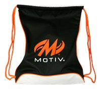 Motiv Agility Drawstring Sackpack Black/Orange Bowling Bags
