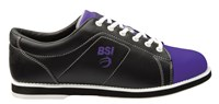 BSI Womens Classic Black/Purple Bowling Shoes