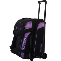 Elite Deuce Purple 2 Ball Roller Bowling Bags