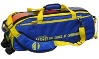 Vise 3 Ball Clear Top Roller/Tote Blue/Yellow Bowling Bags